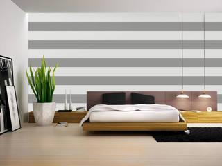 Tapety w pasy poziome: styl , w kategorii Ściany zaprojektowany przez Dekoori