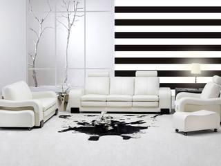 Tapety w pasy poziome Nowoczesne ściany i podłogi od Dekoori Nowoczesny