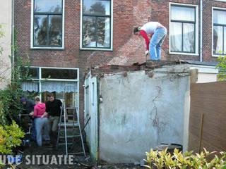 Uitbreiding en verbouwing herenhuis in Leiden Moderne huizen van Lab-S Modern