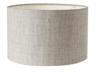 LACOCK DRUM LAMPSHADE, SILVER SOMETHING LINEN : classic  by Fermoie LLP, Classic