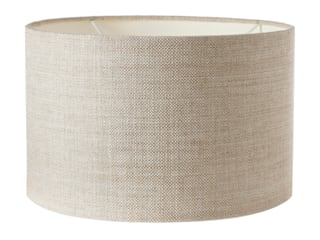 LACOCK DRUM LAMPSHADE, BOATER LINEN por Fermoie LLP Clássico