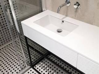 Mieszkanie Żoliborz Nowoczesna łazienka od Projektowanie Wnętrz Suspenzo Nowoczesny