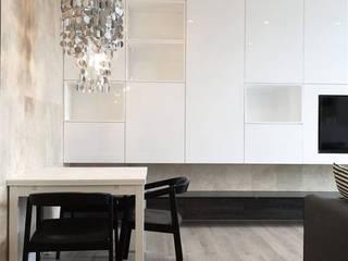Mieszkanie Żoliborz Nowoczesny salon od Projektowanie Wnętrz Suspenzo Nowoczesny