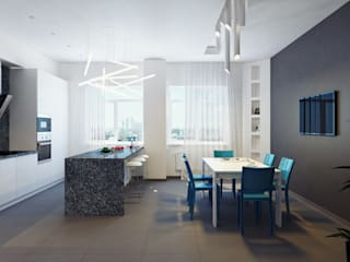 Minimalist dining room by Оксана Мухина Minimalist