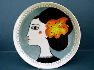 Orange flower Katy Leigh KitchenCutlery, crockery & glassware