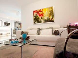 Eclectic style living room by Martyseguido diseño interiorismo Eclectic