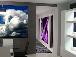 Couloir, entrée, escaliers originaux par Martyseguido diseño interiorismo Éclectique