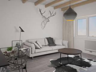 Белый дом Гостиная в стиле минимализм от room4life Минимализм