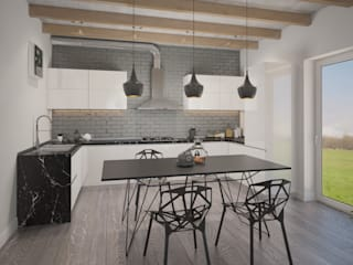 Белый дом Кухня в стиле минимализм от room4life Минимализм