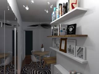 Aménagement d'une cuisine et d'une entrée Couloir, entrée, escaliers modernes par Denitsa Home Moderne