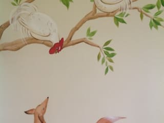 Handmade Wallpaper- Aesops Fables:  Bedroom by Eades Bespoke