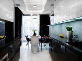 ART. – SPORT – RELAX  Warszawa - mieszkanie 90 m2 : styl , w kategorii Jadalnia zaprojektowany przez TG STUDIO