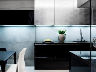 ART. – SPORT – RELAX  Warszawa - mieszkanie 90 m2 : styl , w kategorii Kuchnia zaprojektowany przez TG STUDIO