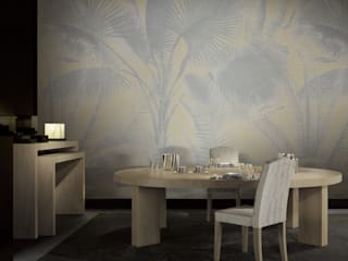 "Armani/Casa'nın ilk duvar kağıdı koleksiyonu ""Precious Fibers I"" HannaHome Dekorasyon Tropikal"