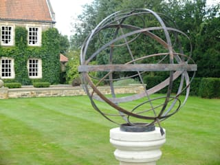 Verdigris Armillary Sundial:   by Border Sundials Ltd