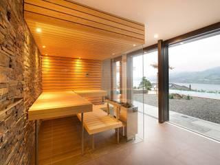 Glass fronted Sauna :  Spa by Prestige Saunas Ltd