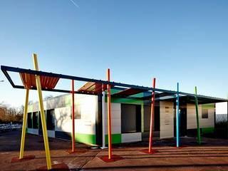 EXTENSION MAISON MUNICIPALE DE MAGONTY: Lieux d'événements de style  par Cendrine Deville Jacquot, Architecte DPLG, A²B2D
