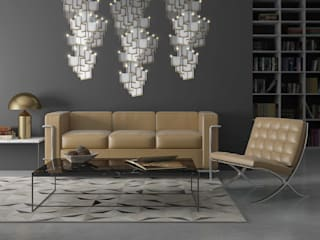 Lattice System LED Wallpaper Chandelier Modern living room by Meystyle Modern