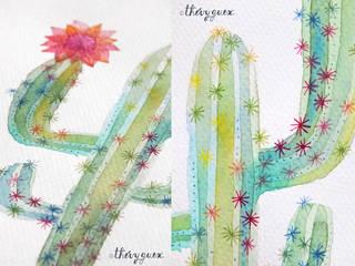 Mes cactus aquarellés: Cuisine de style de style eclectique par Thévy Guex
