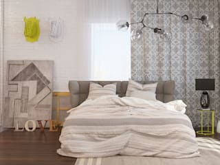 Skandinavische Schlafzimmer von Tatiana Shishkina Skandinavisch