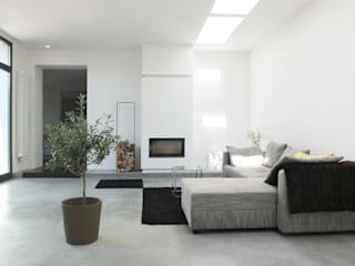 Modern Living Room by qbus architektur & innenarchitektur Modern