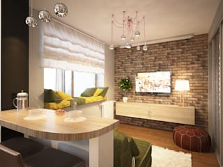 Александра Петропавловская Living room Bricks Green
