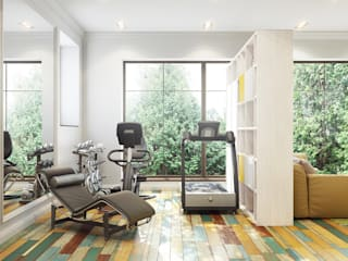 Дом Millennium-park, 420 м²: Тренажерные комнаты в . Автор – Bronx