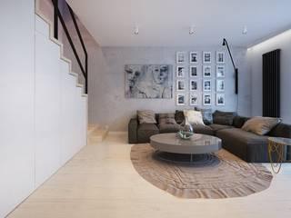 COI Pracownia Architektury Wnętrz Ruang Keluarga Modern