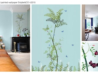 Hand painted wallpaper Peinture XIV van Snijder&CO Klassiek