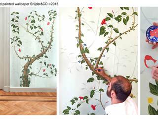 Hand painted wallpaper Peinture XXV van Snijder&CO Landelijk
