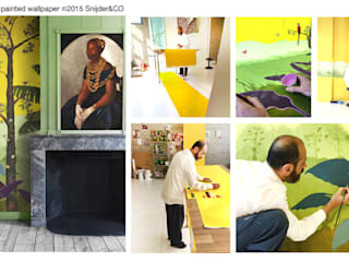 Hand painted wallpaper Peinture XX van Snijder&CO Koloniaal