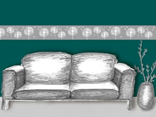 Bordüre - Pusteblume: landhausstil Wohnzimmer von Mein Bordürenladen