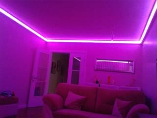 Kartonpiyer san. – LEDPiYER Gizli aydınlatma,dekoratif ışıklı kartonpiyer ve bordür sistemleri: modern tarz , Modern