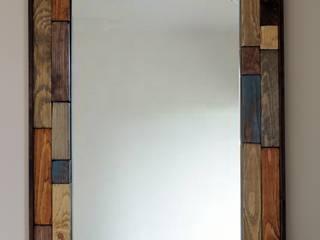 Miroir en chute de bois de palette:  de style  par Les Ateliers du PoM