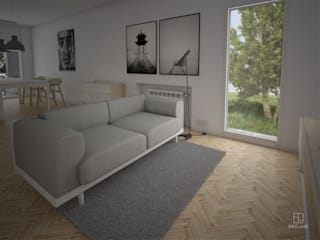 Living room by DECLASE, Minimalist