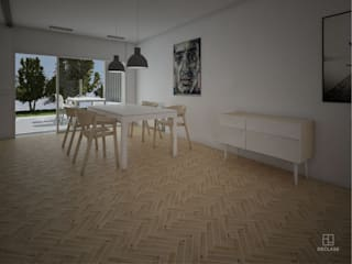Dining room by DECLASE, Minimalist
