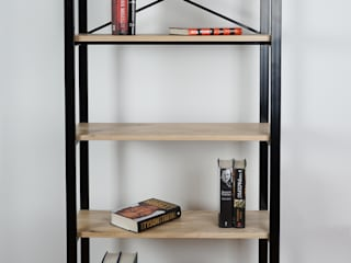 Steel And Ash Wood Bookcase: modern  by Urban Metalworks, Modern