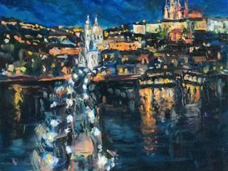 """Живопись - Серия """"Прага"""" ( Paintings - """"Prague""""collection):  в . Автор – Светлана Шестова"""