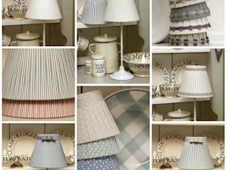 Fabric Lampshades:  Bedroom by Dupere Interior Design