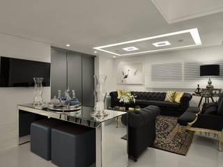 Casa Contemporânea: Salas de estar  por Johnny Thomsen Arquitetura e Design ,Moderno