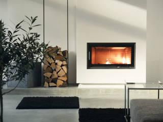 Kamin:  Wohnzimmer von qbus architektur  & innenarchitektur