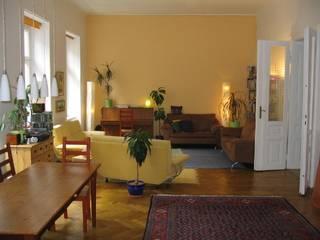 Wohnungszusammenlegung Wien 18 RAUMPULS Lenz & Lenz-Armstorfer OG Moderne Wohnzimmer