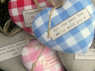 Personalised Lavender Hearts:   by Jonny's Sister