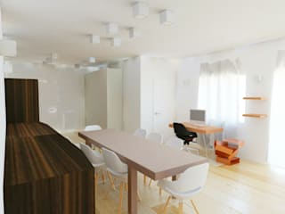 Furniture for Open Space (doorway + living room+ dining room): Sala da pranzo in stile  di Arch. Cristian Sporzon
