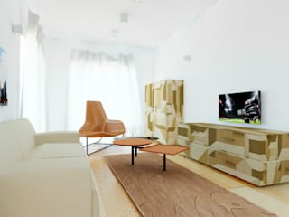 Furniture for Open Space (doorway + living room+ dining room): Soggiorno in stile  di Arch. Cristian Sporzon