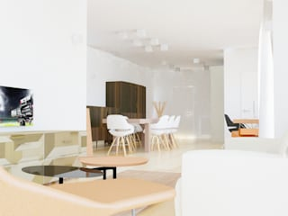 Furniture for Open Space (doorway + living room+ dining room) Soggiorno minimalista di Arch. Cristian Sporzon Minimalista