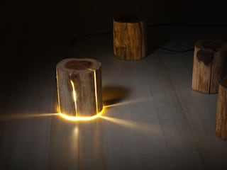 Cracked Log Lamps Duncan Meerding Dining roomLighting