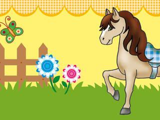 Bordüre - Liebes Pony: ausgefallene Kinderzimmer von Mein Bordürenladen