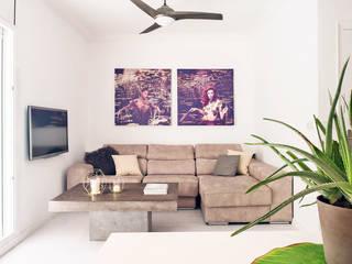 Projekty,  Salon zaprojektowane przez Markham Stagers