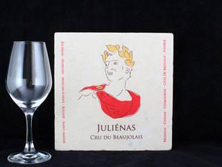 Dessous de plat Juliénas:  de style  par Lézard de la table by mrs frog design